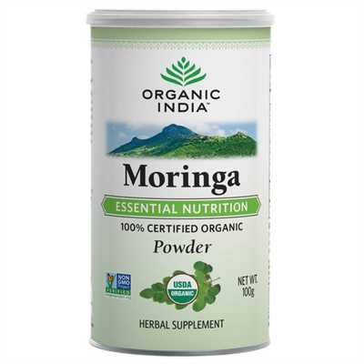 organic india moringa powder 100gm